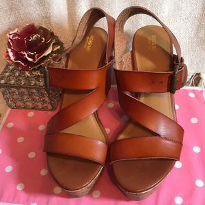 Mossimo Supply Co Brown platform shoes